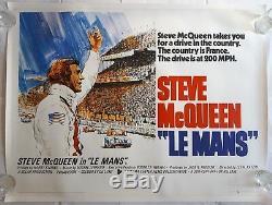 Le Mans, Original 1971 British Quad Movie Film Cinema Poster, Steve McQueen