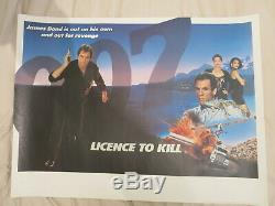 Licence To Kill Quad 1989 Rare Blank British Quad Film Poster James Bond 007