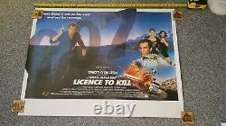 Licence To Kill -james Bond/timothy Dalton- Original Uk Quad Movie Poster