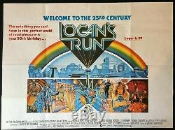Logans Run Original Quad Movie Cinema Poster Michael York 1976 Sci-fi