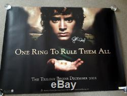 Lord of the Rings signed autograph original cinema d/s quad poster Elijah Wood