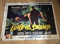 Lure of the Swamp Quad Original Film Poster 1957