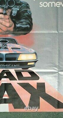 MAD MAX (1979) original UK quad movie poster Mel Gibson Road Warrior