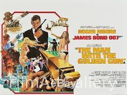 MAN WITH THE GOLDEN GUN 1974 British Quad Exc cond James Bond 007 filmartgallery