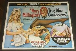 MARY MILLINGTON TRUE BLUE CONFESSIONS 1980 Original Cinema UK Quad Movie POSTER
