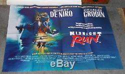 MIDNIGHT RUN original 1988 RARE quad movie poster ROBERT DE NIRO/CHARLES GRODIN