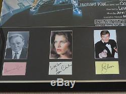 MOONRAKER ORIGINAL 1979 UK QUAD CINEMA POSTER CAST SIGNED Roger Moore BOND 007