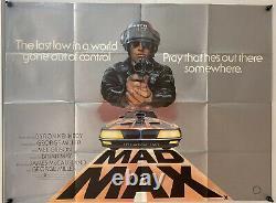 Mad Max Original UK British Quad Film Poster 1980 Mel Gibson