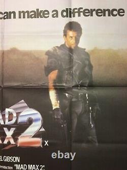 Mad max 2 Uk Quad Original Movie Poster