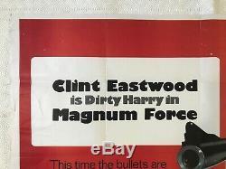 Magnum Force Original Movie Quad Film Poster 1973 Clint Eastwood Bill Gold Art