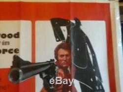 Magnum Force Original Movie Quad Film Poster 1973 Clint Eastwood V Good