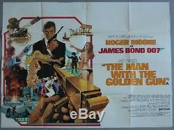 Man with the Golden Gun UK Quad Original vintage movie poster