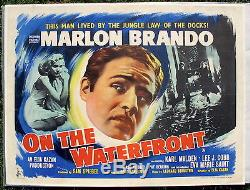 Marlon Brando ON THE WATERFRONT British Quad poster VF condition