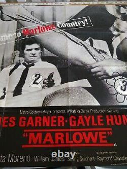 Marlowe James Garner 1969 UK Movie Quad Poster 30x40 + Lobby Cards EX