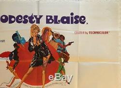 Modesty Blaise Original British Movie Quad Poster 1966 Terence Stamp Bob Peak
