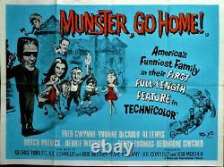 Munster Go Home! (1966) British Quad film poster. 30 X 40 INCHES