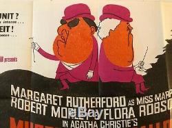Murder At The Gallop Original Uk Quad Film Poster 1963