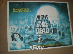 NIGHT OF LIVING DEAD RR ORIG BRIT QUAD 30x40 MOVIE POSTER HORROR GEORGE ROMERO
