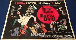 NORMAN WISDOM / THE EARLY BIRD /Uk original quad film poster/ Rank 1965