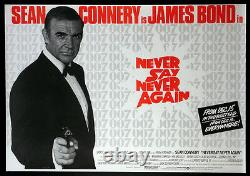 Never Say Never Again Sean Connery James Bond 1983 British Quad Nm Rolled