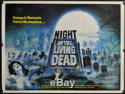 Night Of The Living Dead R/1980 Orig 30x40 Nm Rolled Quad Movie Poster Romero