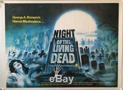 Night Of The Living Dead UK British Quad (1980RR) Original Film Poster