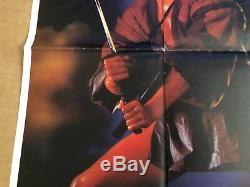 Ninja 3 Original British Quad Cinema Movie Poster Sho Kosugi