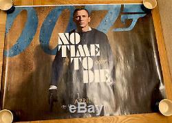 No Time To Die (April Date) UK Cinema/Film Quad Poster 30 x 40 James Bond 007