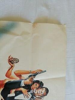 OCTOPUSSY (1983) 100% Genuine Original UK quad film movie poster, James Bond