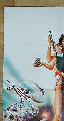 OCTOPUSSY (1983) original UK quad movie poster Roger Moore JAMES BOND 007