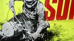 ON ANY SUNDAY Original English UK BRITISH QUAD 30X40 BQ Film Movie poster 1971