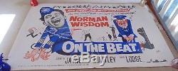 ON THE BEAT Norman Wisdom ORIGINAL 1962 CINEMA UK QUAD MOVIE FILM POSTER RARE