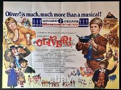 Oliver! Original Quad Movie Cinema Poster Ron Moody Oliver Reed 1968