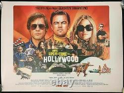 Once Upon a Time in Hollywood Original Quad Movie Cinema Poster Tarantino 2019