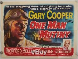 One Man Mutiny Original Uk Quad Film Poster 1955 Gary Cooper