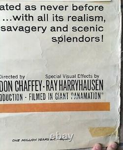 One Million Years BC Original UK Double Quad Movie Poster Hammer Ray Harryhausen