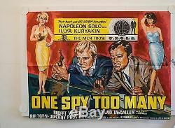 One Spy To Many Original Uk Quad Movie Poster