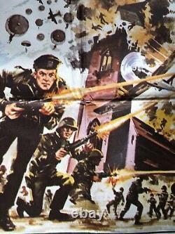 Original 1976 The Eagle Has Landed Movie Quad, Classic War Movie, Micheal Caine