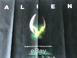 Original 1979 Alien Uk Quad Movie Poster