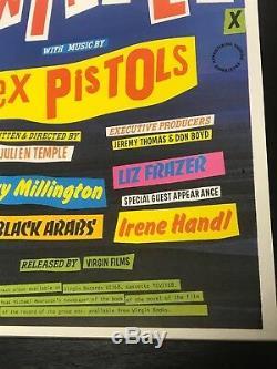 Original 1979 Quad Movie Poster Sex Pistols The Great Rock N Roll Swindle Punk