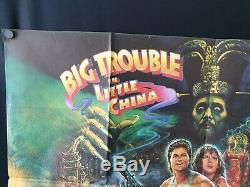 Original 1986 Big trouble in little China UK quad movie poster