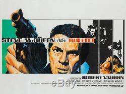 Original Bullitt, UK Quad, Film/Movie Poster 1968, Chantrell