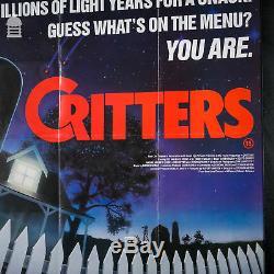 Original Framed CRITTERS Quad Movie Poster