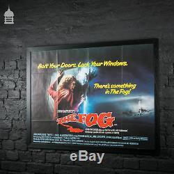 Original Framed THE FOG Quad Movie Poster