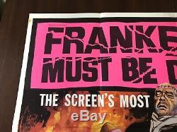 Original Frankenstein Must Be Destroyed! , UK Quad, Film/Movie Poster