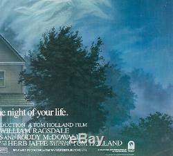 Original Fright Night, UK Quad, Film/Movie Poster Peter Mueller