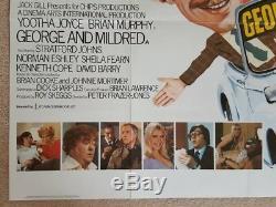 Original GEORGE AND MILDRED British Quad Film / Movie Poster Morris Minor