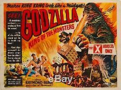 Original Godzilla, UK Quad, Film/Movie Poster 1956, Gojira