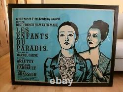 Original'Les Enfants du Paradis' Peter Strausfeld quad film poster, 1970s