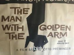 Original Man With The Golden Arm Quad 1955 Film Cinema Movie Sinatra Poster